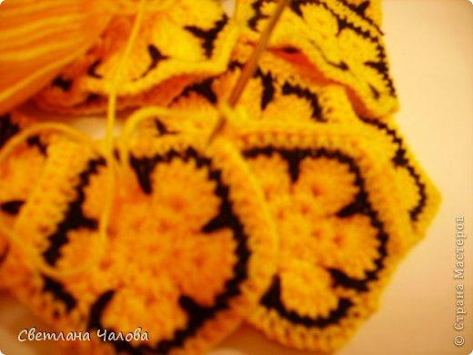 Мастер-класс Вязание крючком МК Жирафик по имени Ирис в технике африканский цветок  Пряжа фото 4