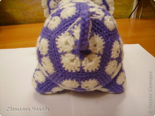 Мастер-класс Вязание крючком МК Слоник из вязанных элементов африканский цветок  Пряжа фото 12