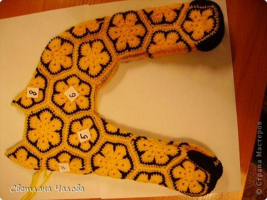 Мастер-класс Вязание крючком МК Жирафик по имени Ирис в технике африканский цветок  Пряжа фото 18