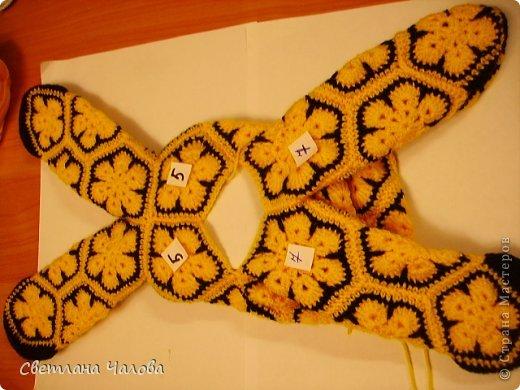 Мастер-класс Вязание крючком МК Жирафик по имени Ирис в технике африканский цветок  Пряжа фото 20