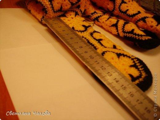 Мастер-класс Вязание крючком МК Жирафик по имени Ирис в технике африканский цветок  Пряжа фото 21