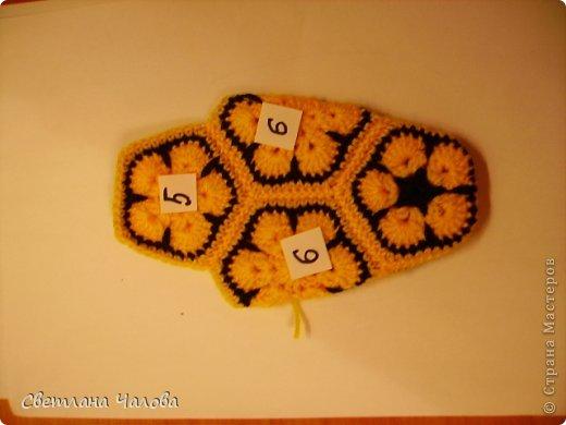 Мастер-класс Вязание крючком МК Жирафик по имени Ирис в технике африканский цветок  Пряжа фото 23