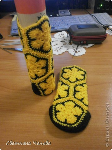 Мастер-класс Вязание крючком МК Жирафик по имени Ирис в технике африканский цветок  Пряжа фото 5