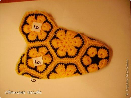 Мастер-класс Вязание крючком МК Жирафик по имени Ирис в технике африканский цветок  Пряжа фото 25