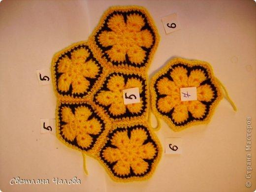 Мастер-класс Вязание крючком МК Жирафик по имени Ирис в технике африканский цветок  Пряжа фото 26