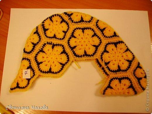 Мастер-класс Вязание крючком МК Жирафик по имени Ирис в технике африканский цветок  Пряжа фото 27