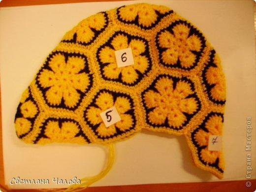 Мастер-класс Вязание крючком МК Жирафик по имени Ирис в технике африканский цветок  Пряжа фото 28