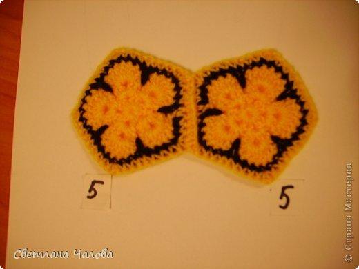 Мастер-класс Вязание крючком МК Жирафик по имени Ирис в технике африканский цветок  Пряжа фото 29
