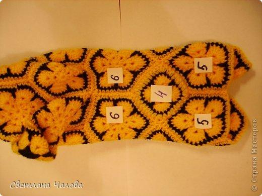 Мастер-класс Вязание крючком МК Жирафик по имени Ирис в технике африканский цветок  Пряжа фото 30
