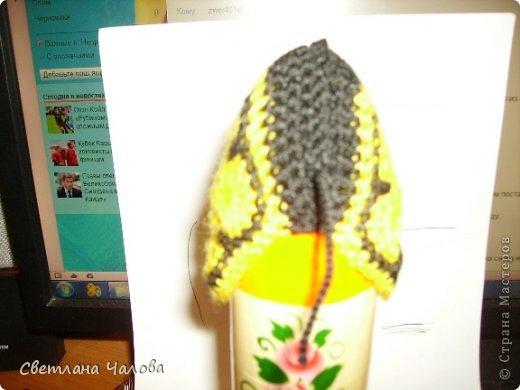 Мастер-класс Вязание крючком МК Жирафик по имени Ирис в технике африканский цветок  Пряжа фото 6