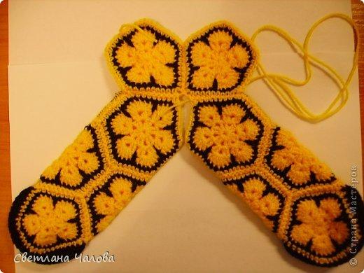 Мастер-класс Вязание крючком МК Жирафик по имени Ирис в технике африканский цветок  Пряжа фото 8