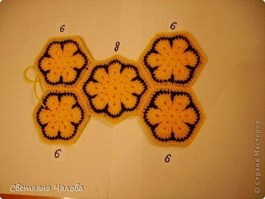 Мастер-класс Вязание крючком МК Жирафик по имени Ирис в технике африканский цветок  Пряжа фото 9