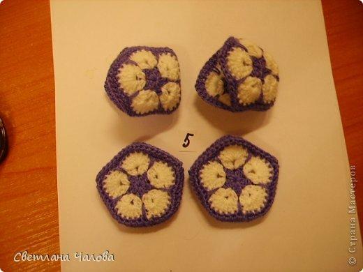 Мастер-класс Вязание крючком МК Слоник из вязанных элементов африканский цветок  Пряжа фото 9