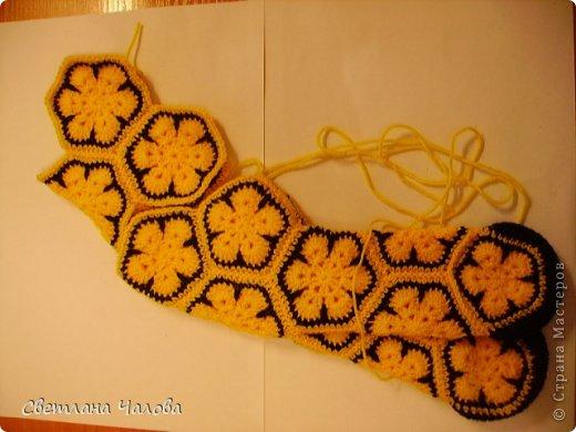 Мастер-класс Вязание крючком МК Жирафик по имени Ирис в технике африканский цветок  Пряжа фото 12