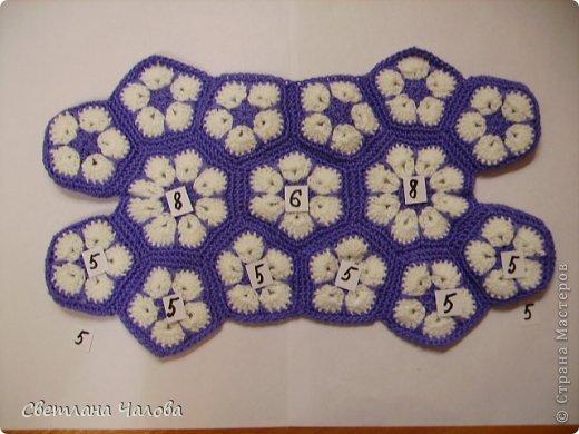 Мастер-класс Вязание крючком МК Слоник из вязанных элементов африканский цветок  Пряжа фото 10