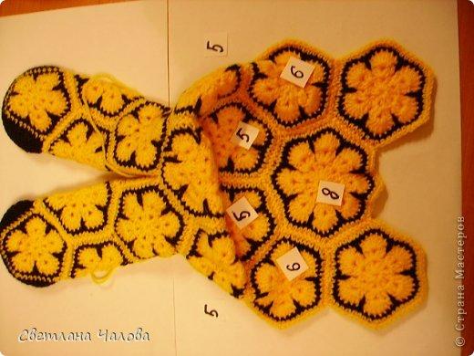Мастер-класс Вязание крючком МК Жирафик по имени Ирис в технике африканский цветок  Пряжа фото 13