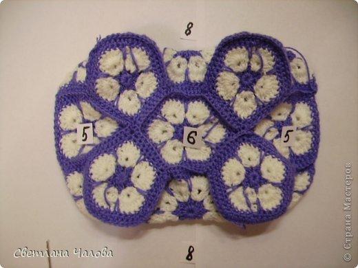 Мастер-класс Вязание крючком МК Слоник из вязанных элементов африканский цветок  Пряжа фото 11