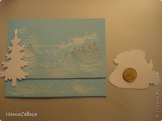 Мастер-класс Открытка Новый год Аппликация Мастер-класс Делаем с детьми открытку с подвижным элементом Бумага фото 6