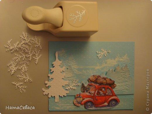 Мастер-класс Открытка Новый год Аппликация Мастер-класс Делаем с детьми открытку с подвижным элементом Бумага фото 7