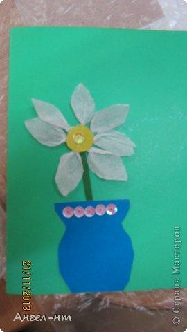 Цветы из креповой бумаги, для блеска добавляли пайетки.  фото 7