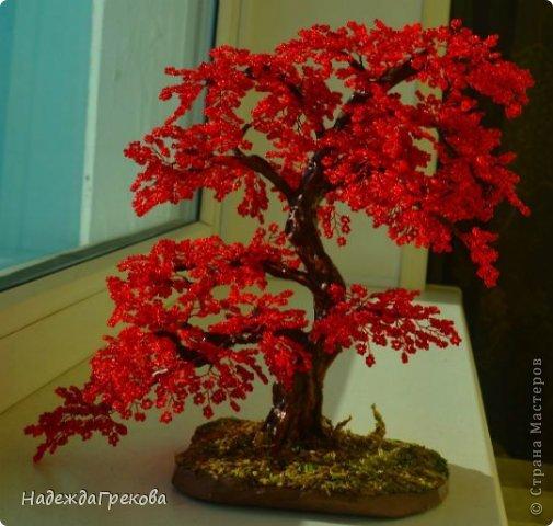 na_solnce2 Доброго дня всем))) Красное деревце из бисера.Моя новая краса=)