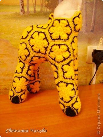 Мастер-класс Вязание крючком МК Жирафик по имени Ирис в технике африканский цветок  Пряжа фото 35