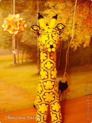 Мастер-класс Вязание крючком МК Жирафик по имени Ирис в технике африканский цветок  Пряжа фото 2