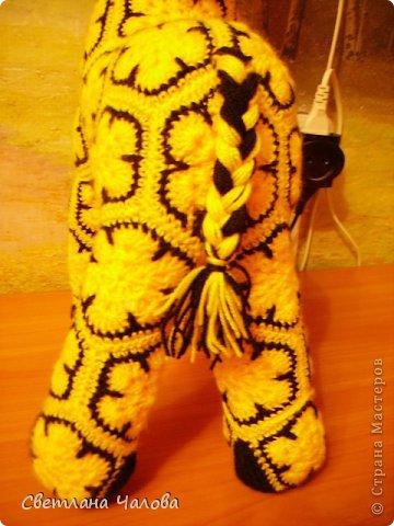 Мастер-класс Вязание крючком МК Жирафик по имени Ирис в технике африканский цветок  Пряжа фото 34