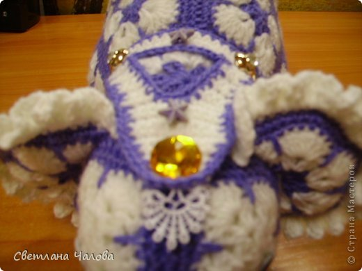 Мастер-класс Вязание крючком МК Слоник из вязанных элементов африканский цветок  Пряжа фото 13