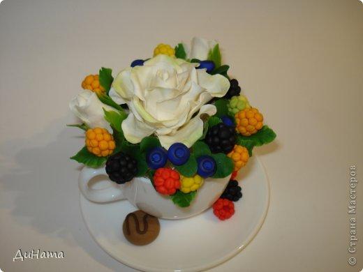 захотелось мне ягод,только оформить их хочу в белой чайной чашке,чтобы на блюдечке выложить три ягодки,а может еще и плиточку шоколада слепить. А пока они в ведре))) фото 7