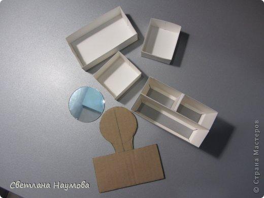 Мастер-класс Поделка изделие Бумагопластика Картонаж Квиллинг Мини трюмо для бижутерии+МК Бумажные полосы Картон фото 8