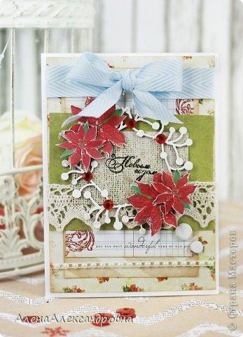 Открытка Скрапбукинг Новый год Ассамбляж Новогоднее вдохновение Бумага фото 5