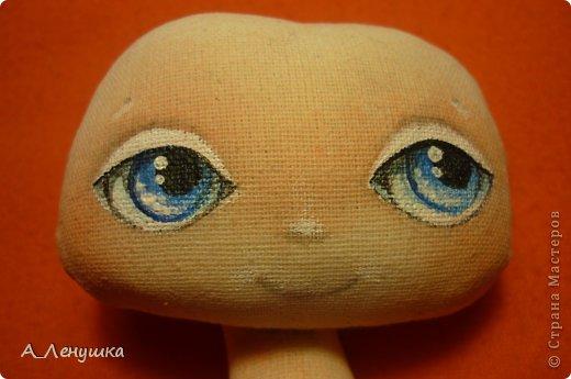Сегодня я попробую рассказать, как нарисовать глазки кукле. Буду больше рассказывать, поэтому следите за текстом. Людей, получивших специальное образование, прошу не ехидничать! Нам понадобиться: 1 Краски акриловые 2 Кисти синтетические 3 Тушка куклы загрунтованная ( я грунтую смесью 0,5 воды+ 0.5 ПВА+ краска акриловая) 4 Вода 5 Лист бумаги (вместо палитры) 6 Карандаш простой и ластик. фото 7