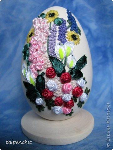Вышивка во саду ли скорлупа яичная