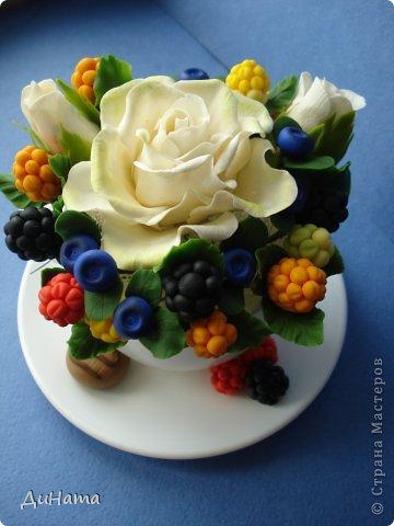 захотелось мне ягод,только оформить их хочу в белой чайной чашке,чтобы на блюдечке выложить три ягодки,а может еще и плиточку шоколада слепить. А пока они в ведре))) фото 10
