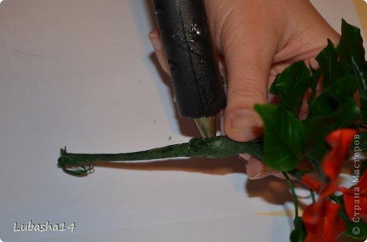 Мастер-класс Флористика Новый год Лепка Рождественский цветок пуансетия из холодного фарфора Фарфор холодный фото 51