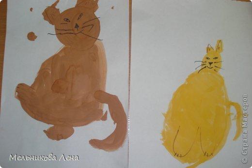 Вот таких котиков нарисовали мои новые детки 3 лет.