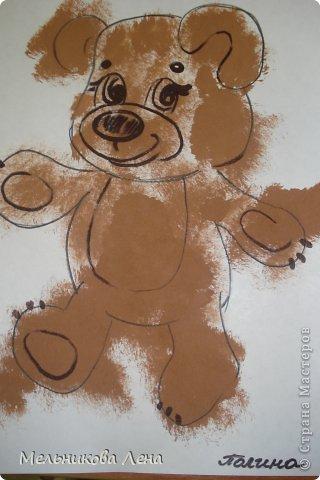 Первый раз попробовали  рисовать методом тычка. фото 3