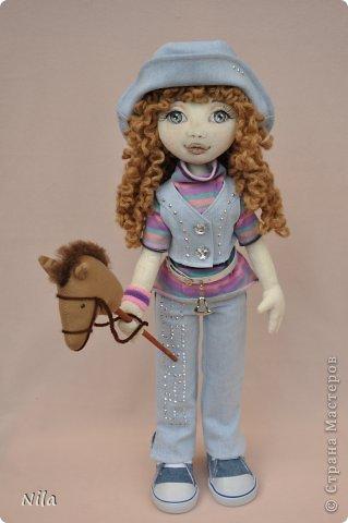 Текстильная кукла Сабрина фото 1