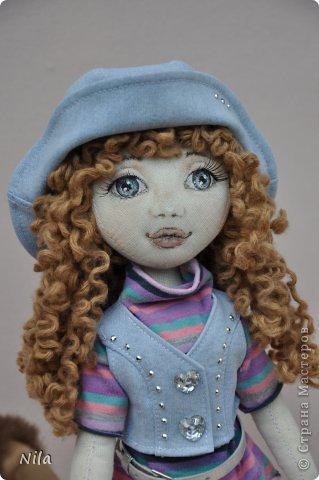 Текстильная кукла Сабрина фото 3