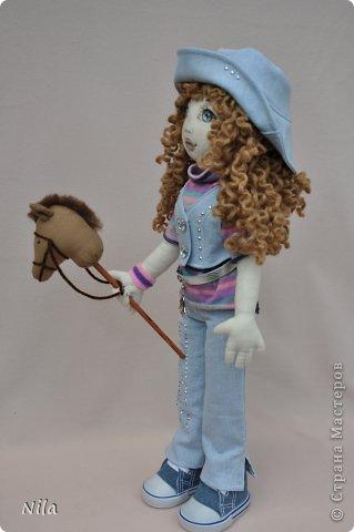 Текстильная кукла Сабрина фото 2