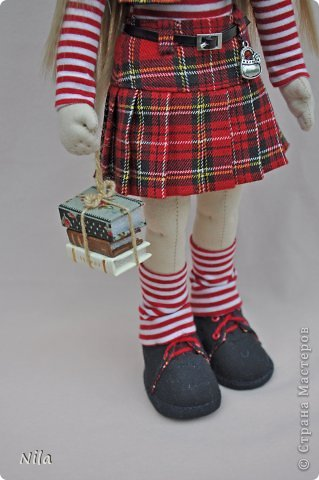 Текстильная кукла Альбина фото 4