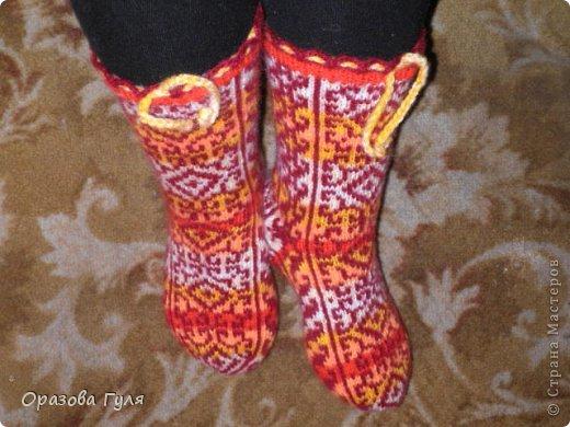Теплые носки с орнаментом. Джурабы. фото 8