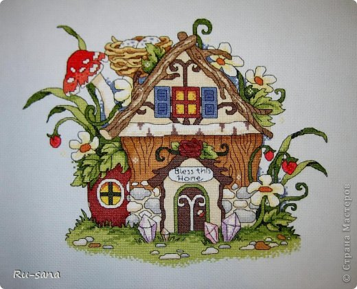 Вышивка крестом домовой бесплатная схема