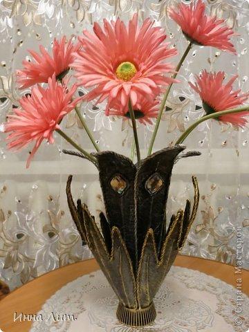 """Приветствую вас ,жители!Есть сказка """" Каменный цветок"""",а у меня получился железный.Ну а вообще то ваза. фото 1"""