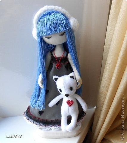 Куклы Шитьё Совместный пошив куклы с синими волосами по мотивам рисунка Сьюзен Вулкотт Кружево Ткань