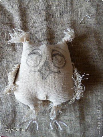 Игрушка Мастер-класс Новый год Шитьё Ароматизированная кукла Сова Ткань фото 2