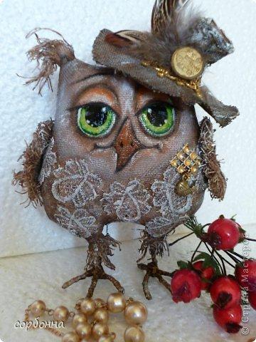 Игрушка Мастер-класс Новый год Шитьё Ароматизированная кукла Сова Ткань фото 1