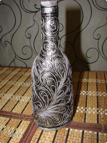 Сколько сделала бутылочек в этом замечательном стиле, оглянулась, а дома-то ни одной такой бутылочки нэту (оказалось все раздарила). Вот настроилась и сотворила для себя такую !!!  фото 1