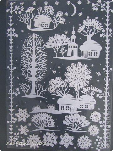 Зимние деревья из бумаги своими руками